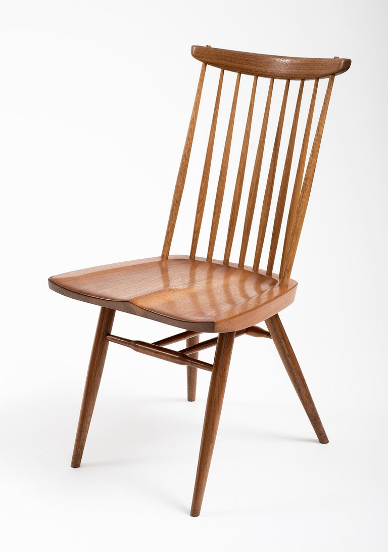 Hand-Crafted Set of Six Early George Nakashima New Chairs, United States, 1958 For Sale