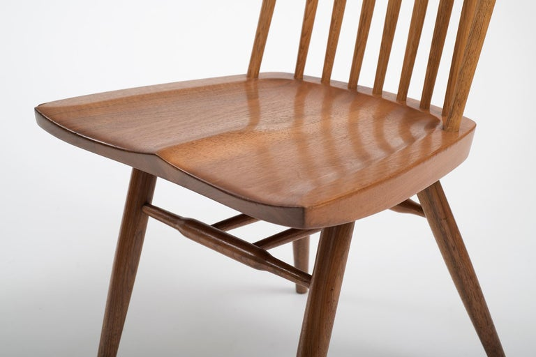 Set of Six Early George Nakashima New Chairs, United States, 1958 In Good Condition For Sale In Santa Fe, NM