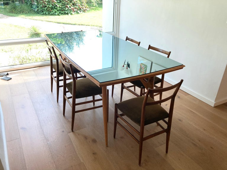 Set of Six Early Leggera Dining Chairs by Gio Ponti for Cassina For Sale 6