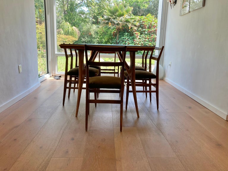 Set of Six Early Leggera Dining Chairs by Gio Ponti for Cassina For Sale 9