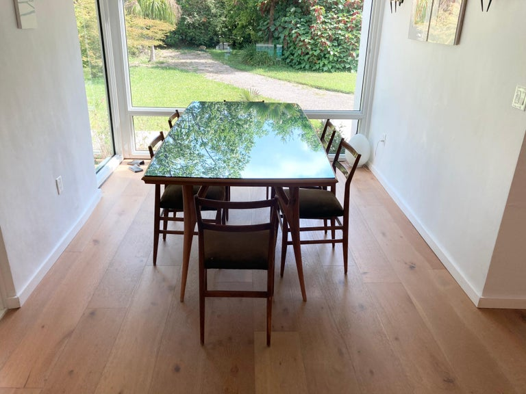 Set of Six Early Leggera Dining Chairs by Gio Ponti for Cassina For Sale 10