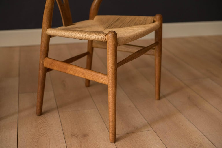 Set of Six Early Vintage Hans Wegner CH24 Wishbone Dining Chairs For Sale 5