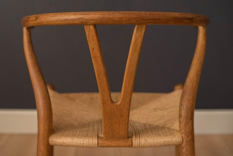 Set of Six Early Vintage Hans Wegner CH24 Wishbone Dining Chairs For Sale 9