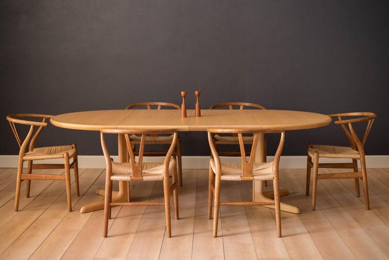 Scandinavian Modern Set of Six Early Vintage Hans Wegner CH24 Wishbone Dining Chairs For Sale