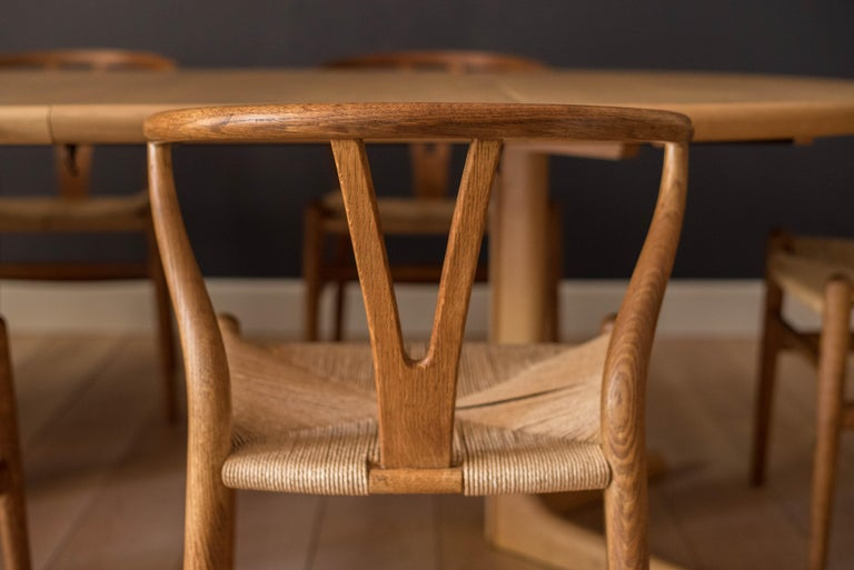 Danish Set of Six Early Vintage Hans Wegner CH24 Wishbone Dining Chairs For Sale