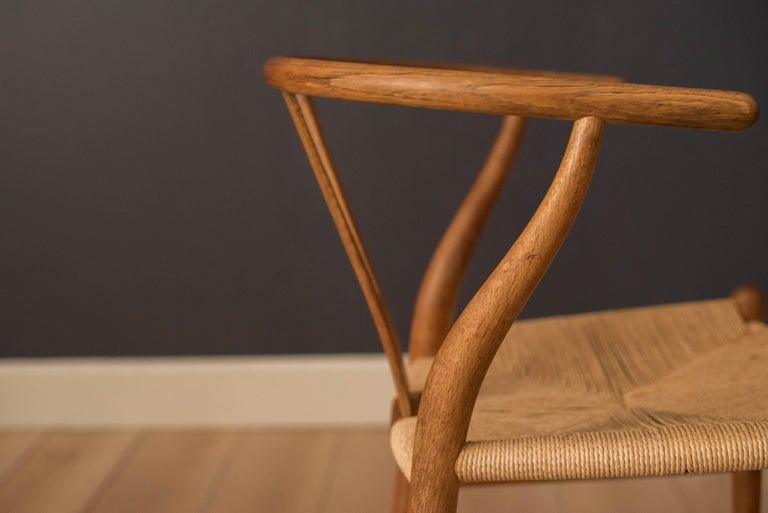 Mid-20th Century Set of Six Early Vintage Hans Wegner CH24 Wishbone Dining Chairs For Sale