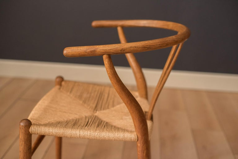 Set of Six Early Vintage Hans Wegner CH24 Wishbone Dining Chairs For Sale 1