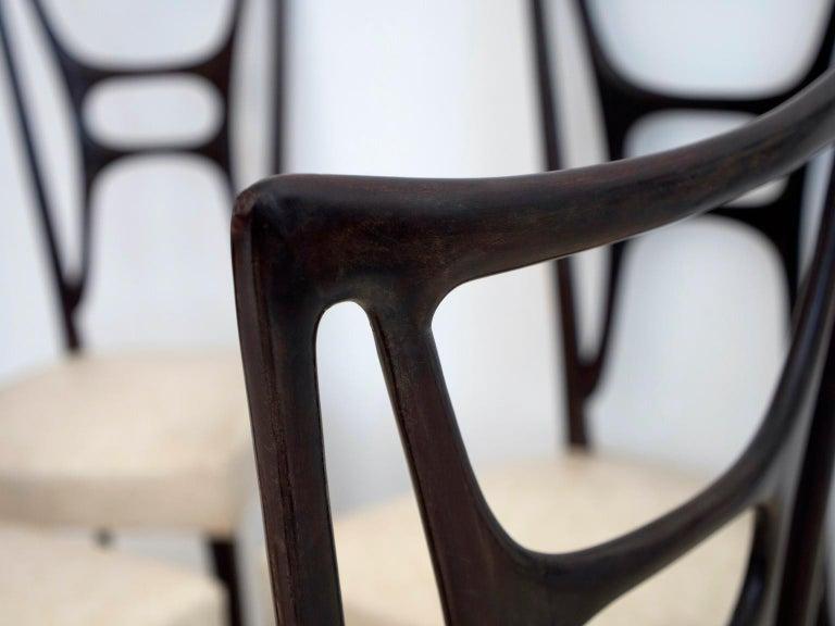 Set of Six Ebonized Wood Dining Chairs 4