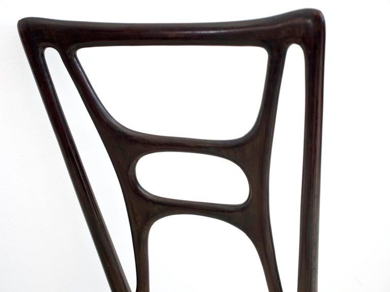 Set of Six Ebonized Wood Dining Chairs 5