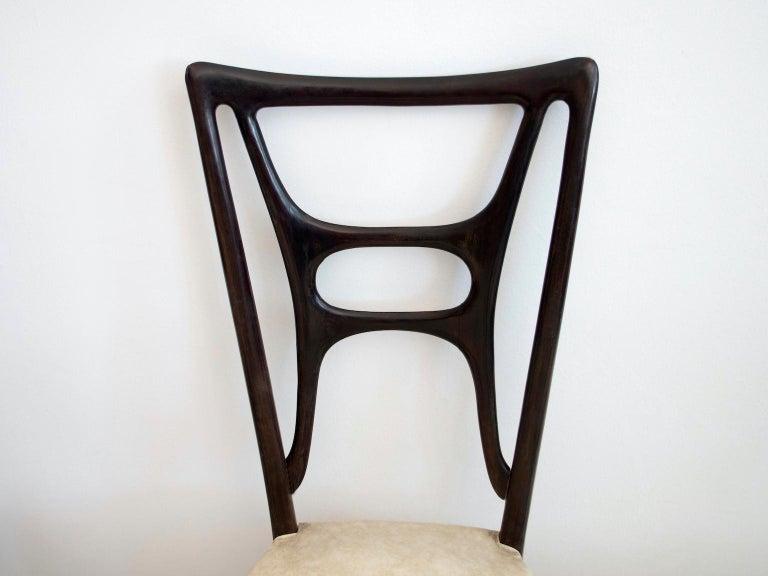 Set of Six Ebonized Wood Dining Chairs 6