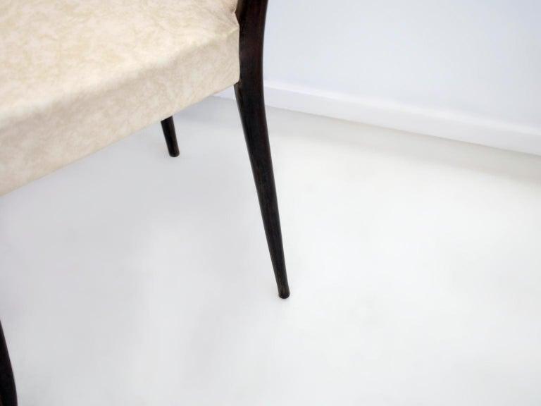 Set of Six Ebonized Wood Dining Chairs 7