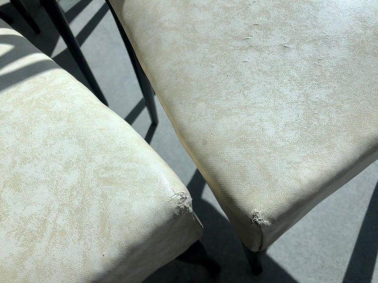 Set of Six Ebonized Wood Dining Chairs 10