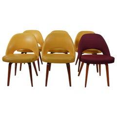 Set of Six Eero Saarinen Dining Chairs for Knoll