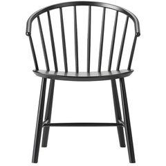Set of Six, Ejvind A Johansson J64 Chair, Ash, Black