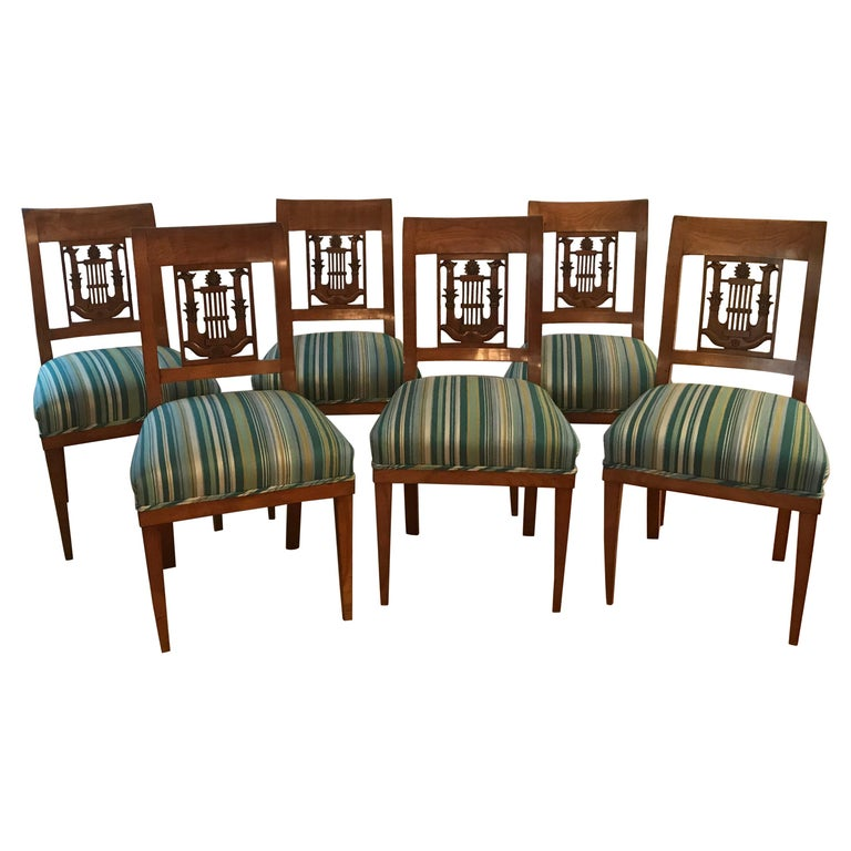 Set of Six Empire Chairs, Germany, 1800-1810 For Sale