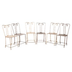 Set of Six English 19th Century Garden Chairs