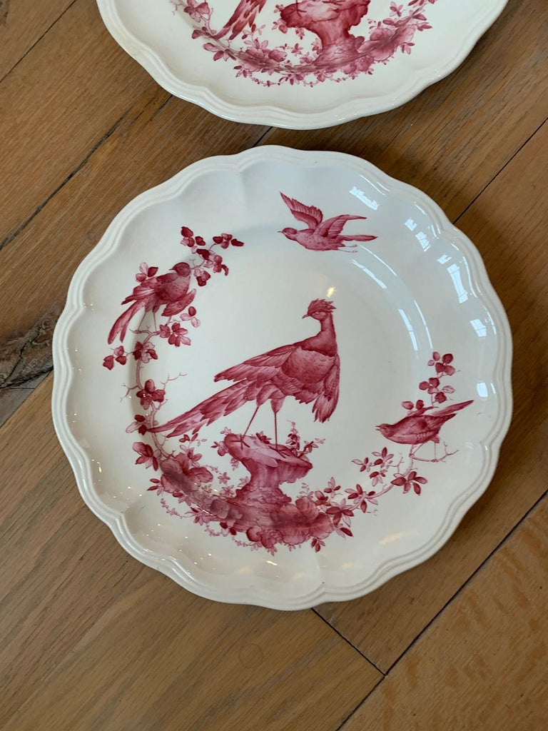 Set of Six English Copeland Spode Chelsea Bird Pattern Dinner Plates, Marked For Sale 5