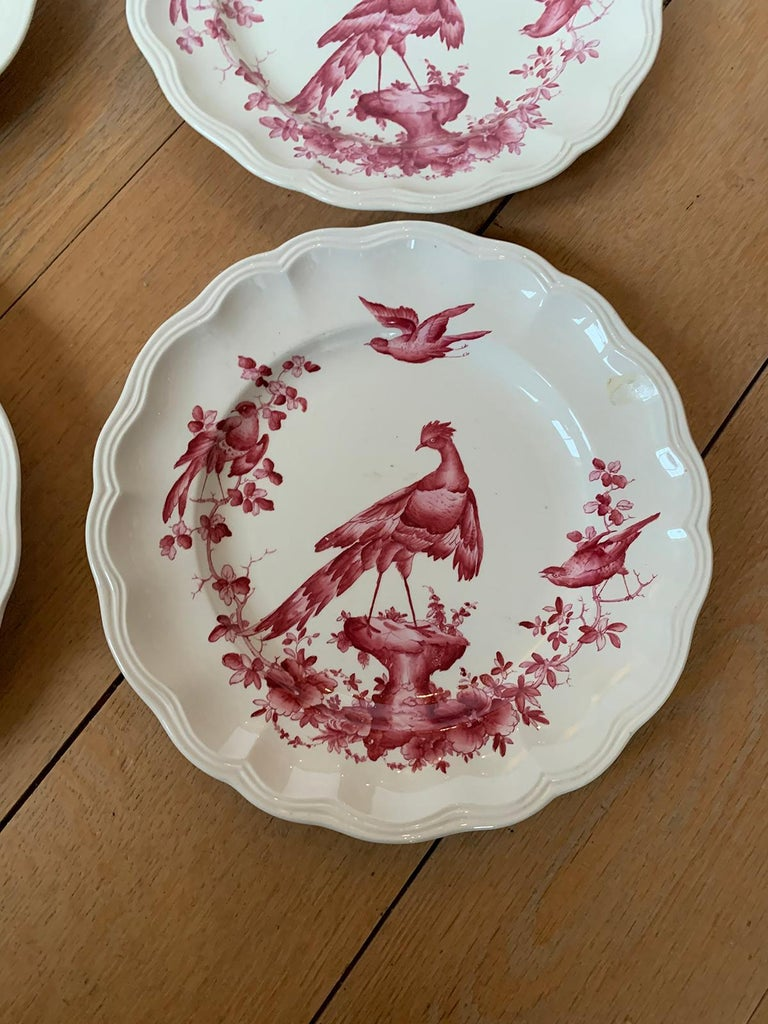 Set of Six English Copeland Spode Chelsea Bird Pattern Dinner Plates, Marked For Sale 10