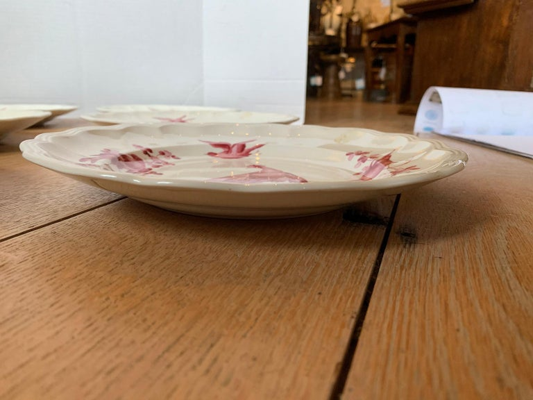 Set of Six English Copeland Spode Chelsea Bird Pattern Dinner Plates, Marked For Sale 11