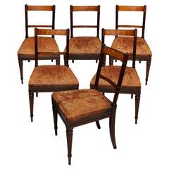 Set of Six English George III Mahogany Dining Chairs, circa 1790
