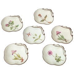 Set of Six English Pearlware Shell Dishes
