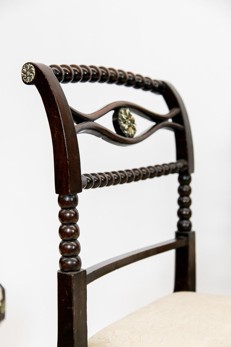 Set of Six English Regency Side Chairs For Sale 4