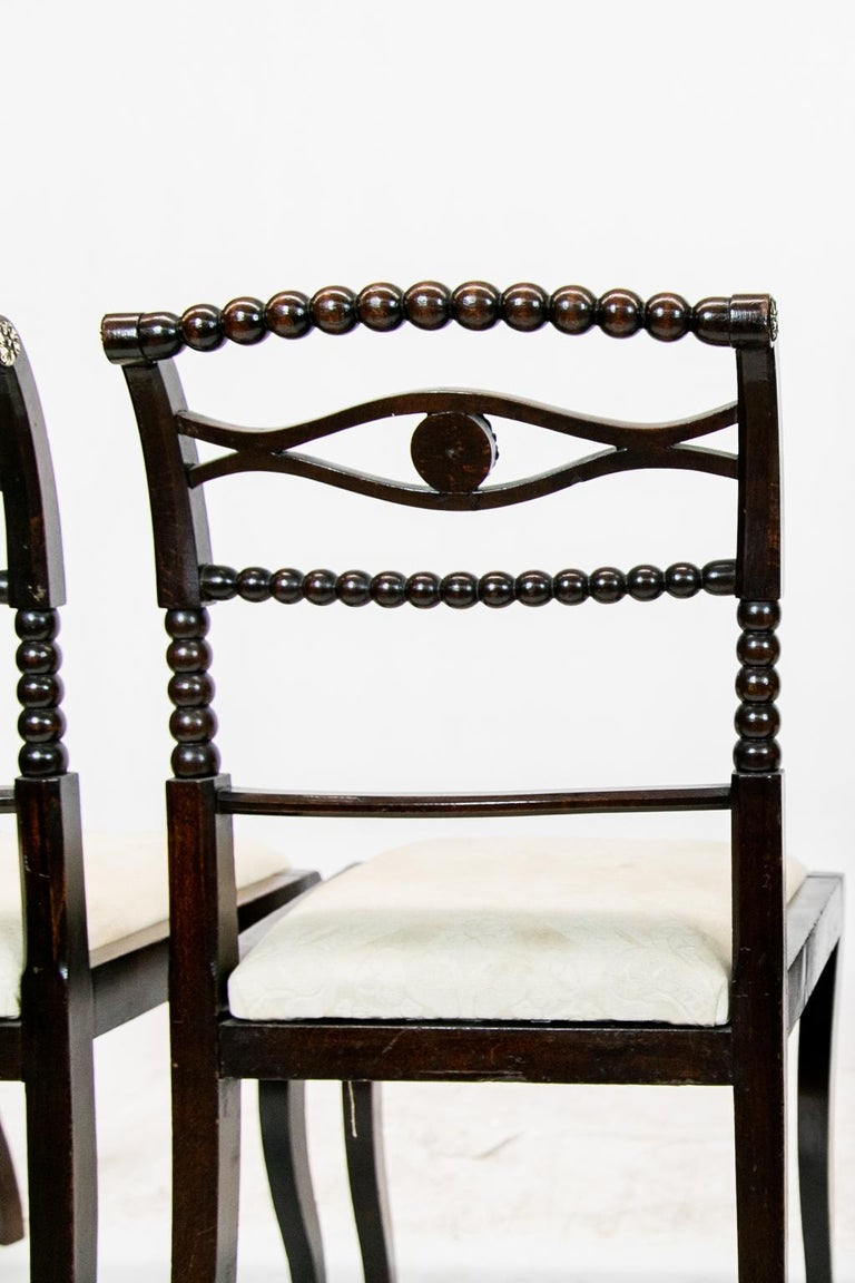 Set of Six English Regency Side Chairs For Sale 8