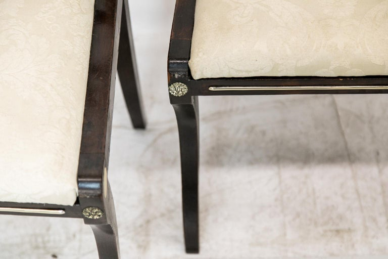 Paint Set of Six English Regency Side Chairs For Sale