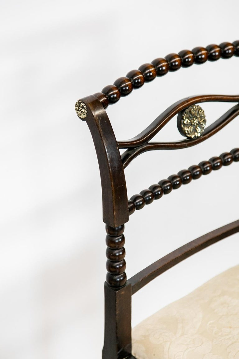 Set of Six English Regency Side Chairs For Sale 2