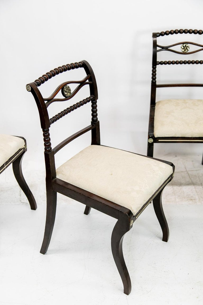 Set of Six English Regency Side Chairs For Sale 3