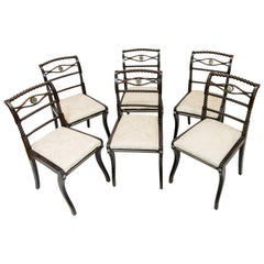 Set of Six English Regency Side Chairs