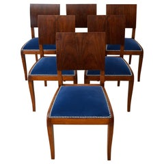 Set of Six English Regency Style Rosewood Dining Chairs