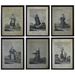 Set of Six Engravings of Italian Regional Dress
