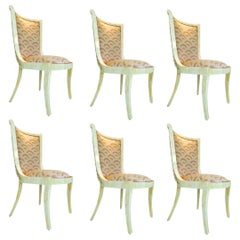 Set of Six Enrique Garcel Bone Dining Chairs