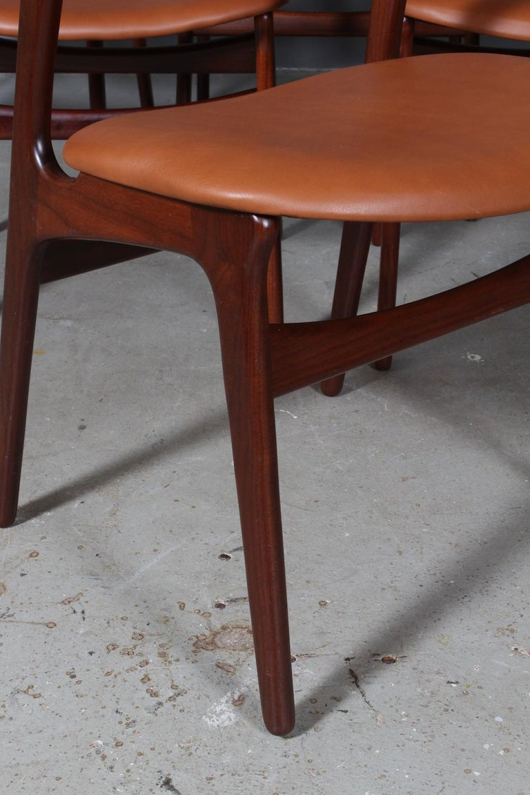 Set of Six Erik Buch Chairs In Good Condition In Esbjerg, DK