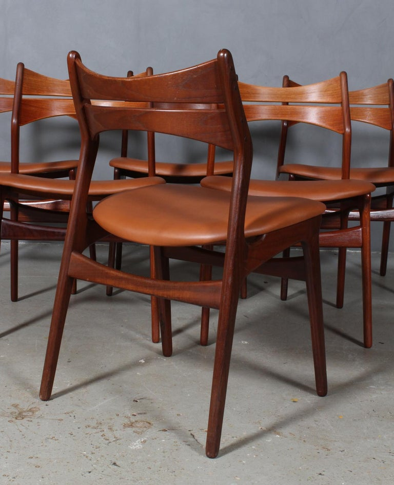 Mid-20th Century Set of Six Erik Buch Chairs