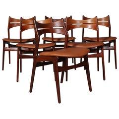 Set of Six Erik Buch Chairs