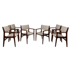 Set of Six Erik Buch Danish Teak Dining Armchairs, circa 1970s