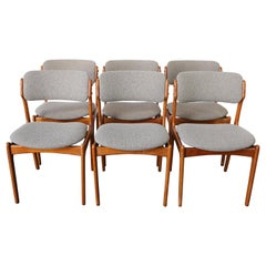 Set of Six Model-49 Dining Chairs by Erik Buch for Odense Maskinsinedkeri, 1960s