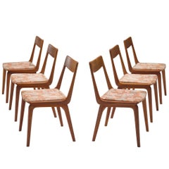 Erik Christiansen Set of Six 'Boomerang' Chairs in Teak