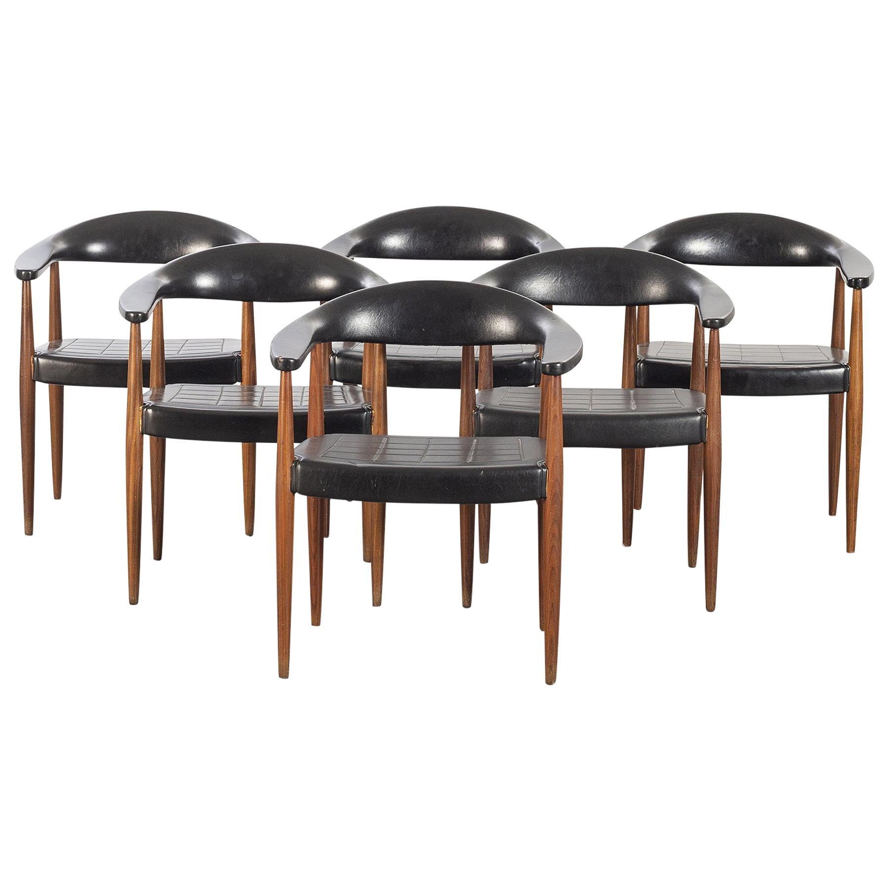 Set of Six 'Eterna' Armchairs by Ilmari Lappalainen for Asko