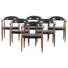 Set of Six 'Eterna' Armchairs by Ilmari Lappalainen for Asko