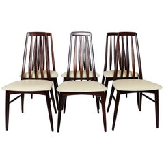 Set of Six Eva Dining Chairs in Rosewood Designed by Niels Koefoed, 1960s