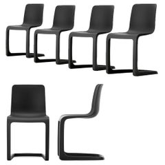 Set of Six EVO-C Chair in Recyclable Polypropylene by Jasper Morrison