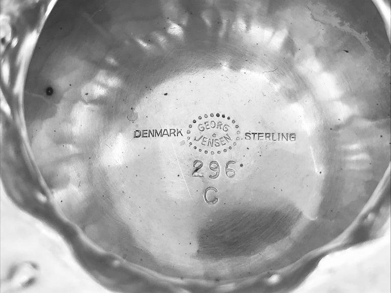 Danish Set of Six Extra Large Vintage Georg Jensen Grapes Goblets 296C For Sale