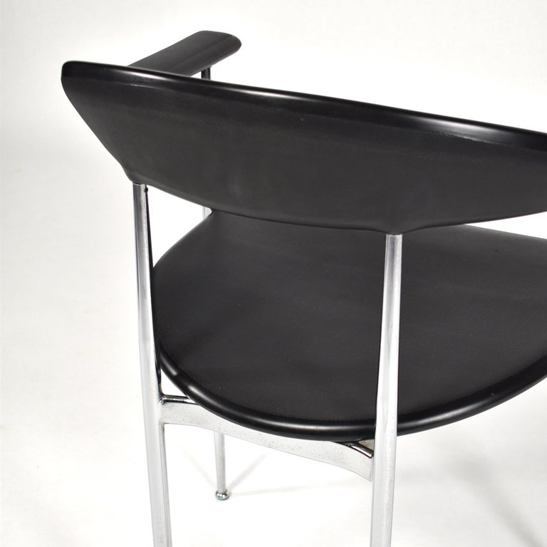 Set of Six FASEM P40 Dining Chairs by Vegni and Gualtierotti - Italy For Sale 2
