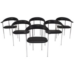 Set of Six FASEM P40 Dining Chairs by Vegni and Gualtierotti - Italy