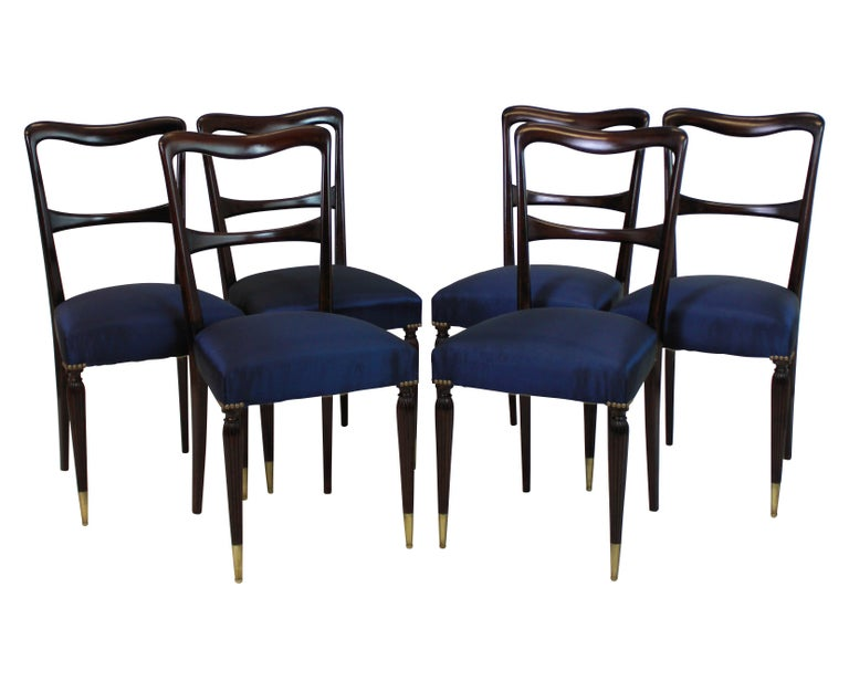 Set of Six Fine Italian Dining Chairs In Good Condition For Sale In London, GB