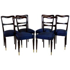 Set of Six Fine Italian Dining Chairs