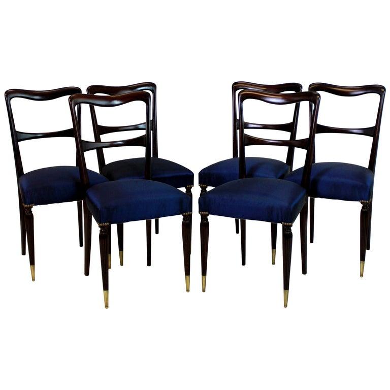 Set of Six Fine Italian Dining Chairs